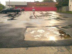 sealed parking lot runoff