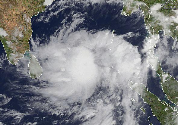 Cyclone Mahasen as it looked, forming in the Bay of Bengal on May 12.