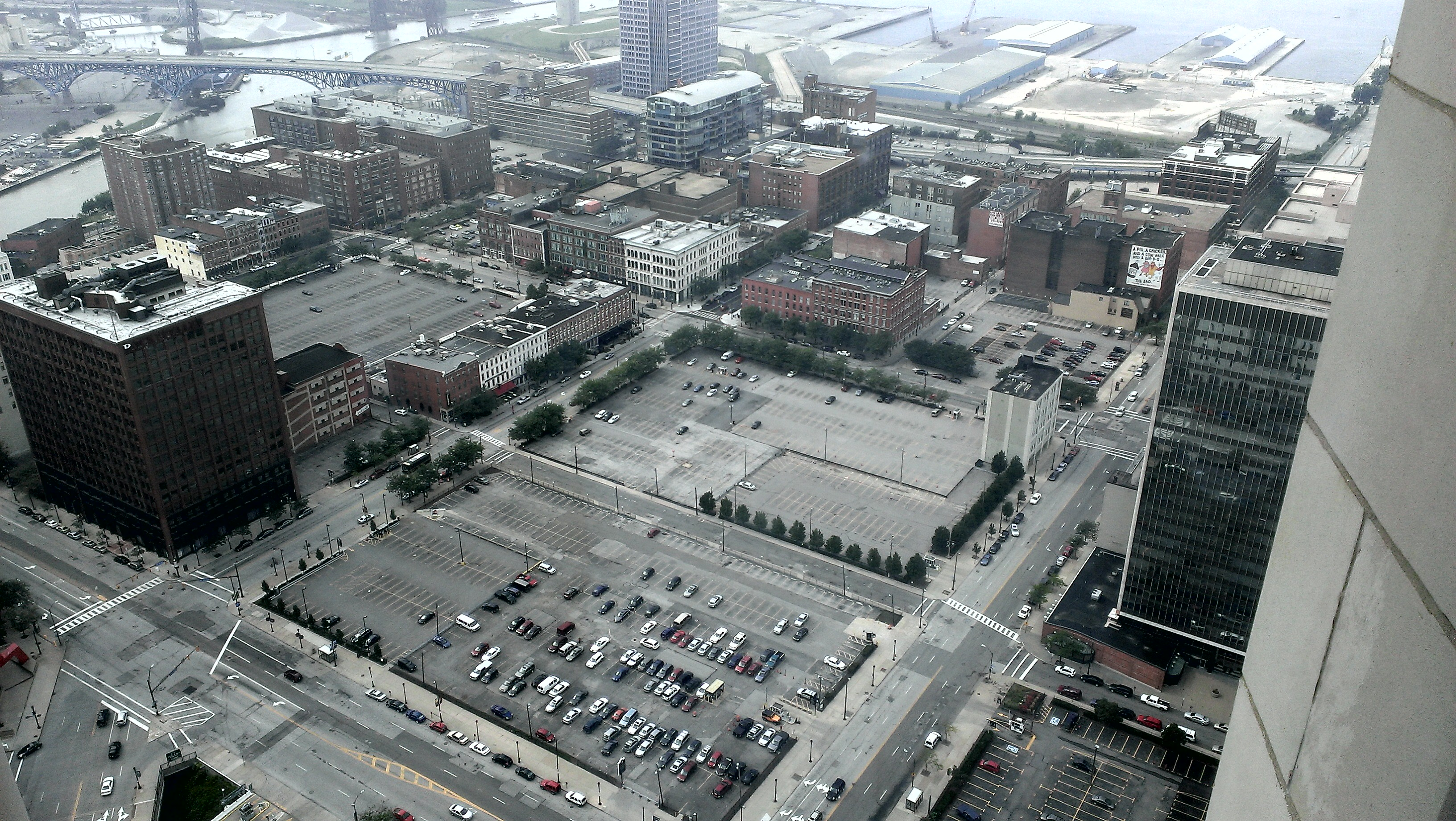 warehouse district surface parking