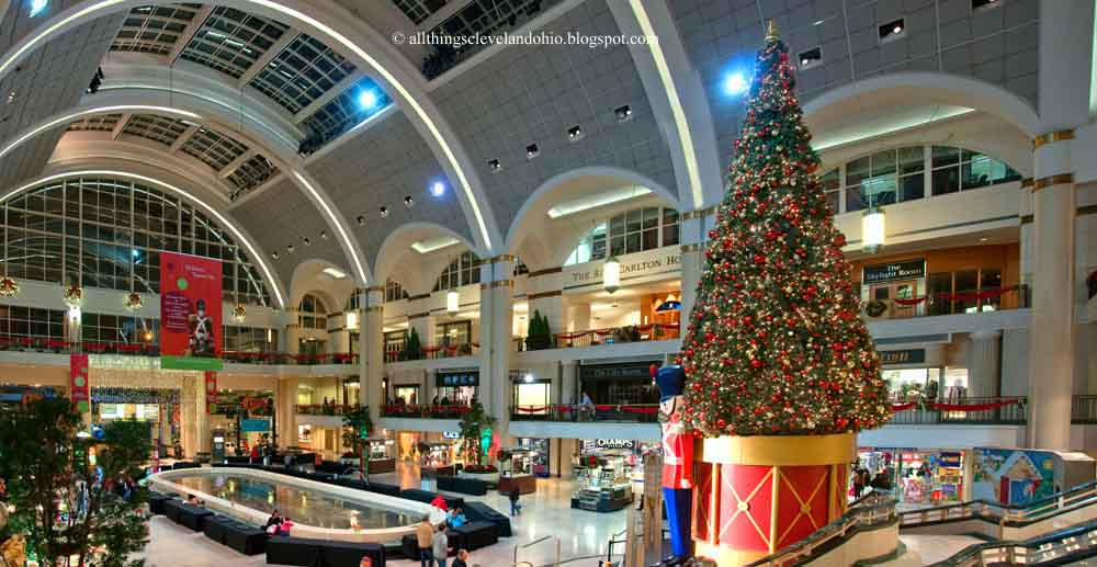tower city at christmas