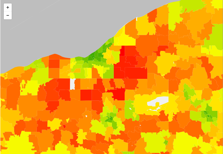 carbon footprint map northeast ohio