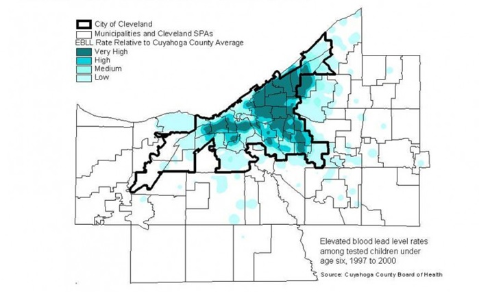 cuyahoga county blood lead levels