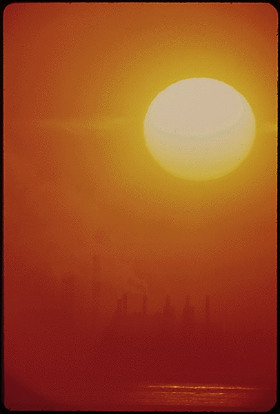 air pollution sunset 1973