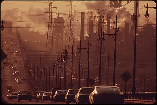 clark ave bridge smog 1973