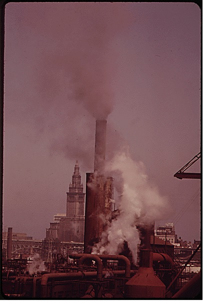 republic steel smoke stack terminal tower