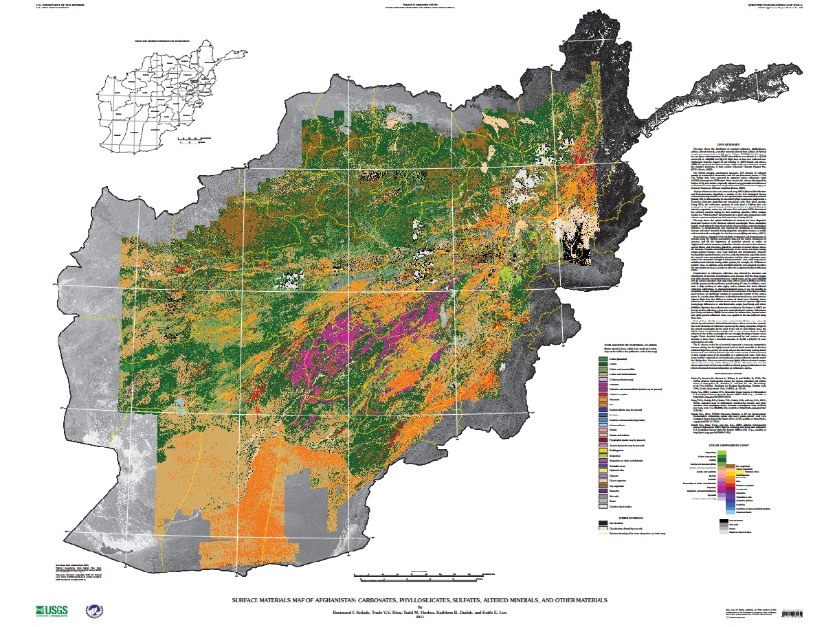 mineral resource map afghanistan