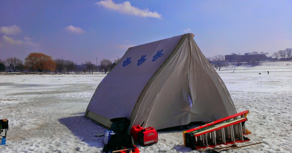 lake erie ice tent