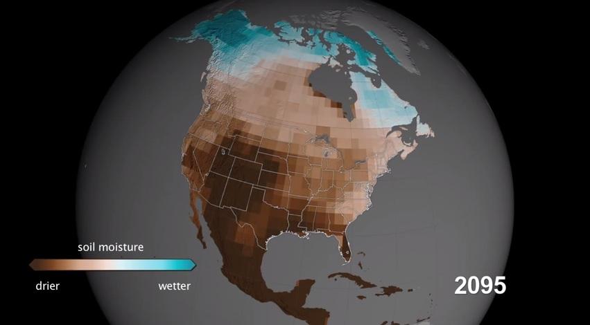nasa drought projection 2095