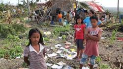 schoolchildren typhoon haiyan