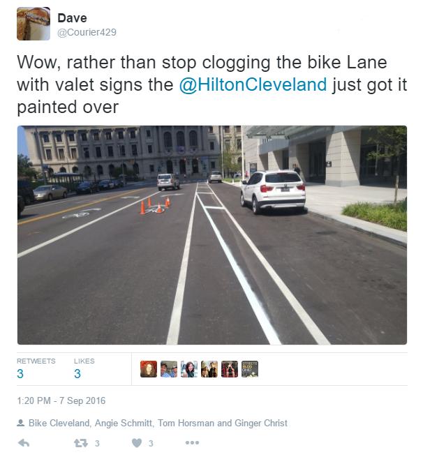 ontario bike lane after