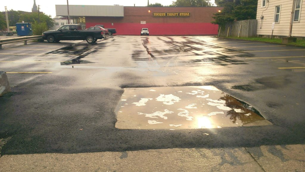sealed parking lot runoff