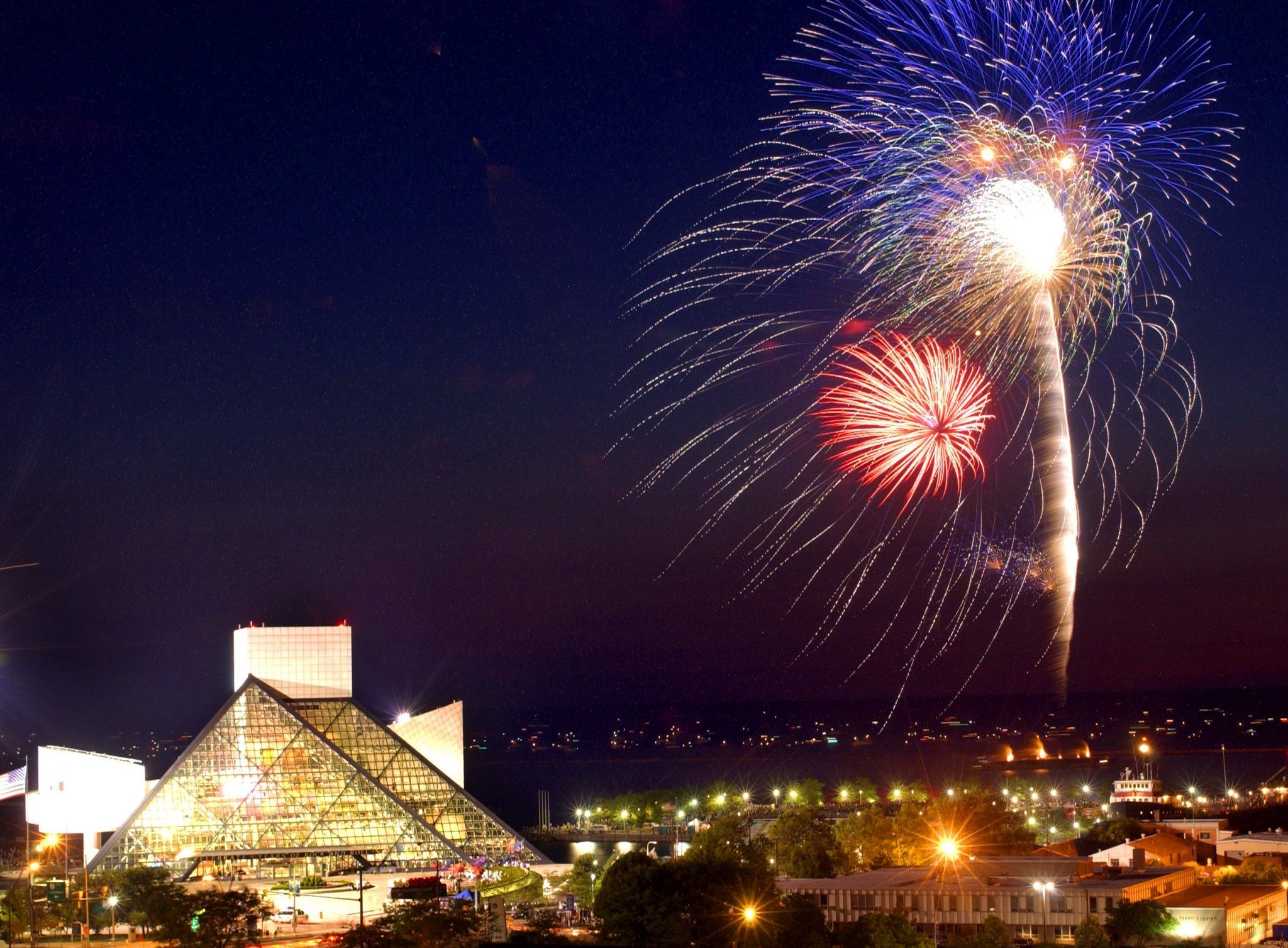 fireworks rock hall