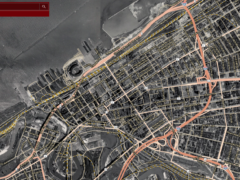 1951 downtown cleveland aerial map